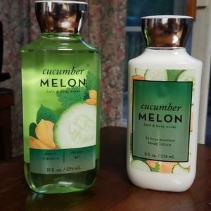 New BBW 2 piece set-Cucumber Melon